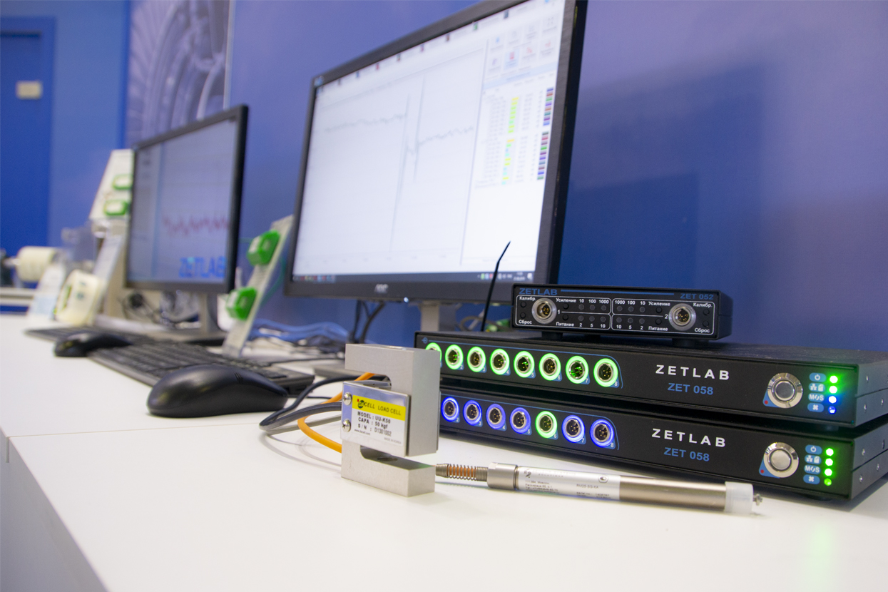 Strain-gauge-measurement-system-based-on-controller-ZET-058-at-MAKS-2019