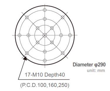 J240-diametr-stola-vibrostenda